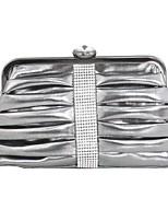 Недорогие -Жен. Кристаллы PU Вечерняя сумочка Сплошной цвет Черный
