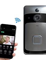 Недорогие -Смарт Wi-Fi дверной звонок беспроводной дверной звонок удаленного просмотра мониторинга голосовой домофон мобильное приложение смарт-кошачий глаз