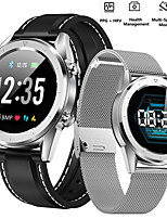 Недорогие -Смарт Часы Цифровой Современный Спортивные силиконовый Натуральная кожа 30 m Защита от влаги Пульсомер Bluetooth Цифровой На каждый день На открытом воздухе - Черный Серебряный