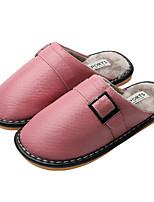 Недорогие -Жен. Тапочки и Шлепанцы Микропоры Круглый носок Полиуретан На каждый день Зима Вино / Розовый