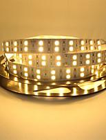 Недорогие -5м гибкие светодиодные двухслойные световые полосы / RGB полосы света / струнные светильники 600 светодиодов smd5050 теплый белый / RGB / белый креатив / вечеринка / декоративные 12 В 1шт