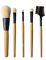 Недорогие -профессиональный Кисти для макияжа 5 шт. Очаровательный Мягкость удобный Деревянные / бамбуковые за Косметическая кисточка