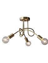 Недорогие -Нордический потолочный светильник промышленный подвесной светильник люстра полу скрытого монтажа для спальни прихожей фойе подвесной светильник без абажура 3 светильника