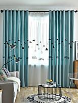 Недорогие -две панели европейский минималистский стиль лен хлопок вышитые плотные шторы гостиная спальня столовая детская комната шторы