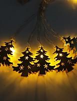 Недорогие -3м золотые кованые ёлочные гирлянды 20 светодиодов теплый белый / rgb / белый креатив / вечеринка / светодиодный рождественский фонарь / декоративные батарейки на батарейках 1 комплект