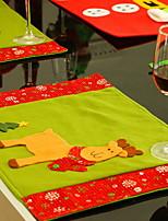 Недорогие -Рождественские украшения Мультяшная тематика Хлопковая ткань Квадратный Мультипликация Рождественские украшения