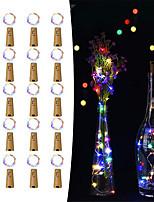 Недорогие -20 шт. 15-светодиодный 0.75 м медной проволоки бутылки пробка строка огни для стеклянной бутылки ремесла фея валентинки свадьба украшения партия