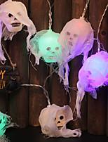 Недорогие -2.5 м с питанием от батареи 10 светодиодные черепа свет цепи с ip44 кружева красочные украшения лампы для Хэллоуина призрак украшения партии 1 шт.
