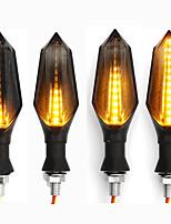 Недорогие -12v водонепроницаемые светодиодные указатели поворота для мотоцикла с янтарной подсветкой
