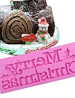 Недорогие -1 шт. С рождеством христовым формы пищевой силиконовый шоколадный торт силиконовые формы торт помадка торт украшение инструмент