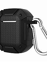 Недорогие -для airpods чехол роскошный противоударный броня чехол беспроводная связь bluetooth чехол для наушников силиконовый чехол для air pods 2 зарядное устройство fundas