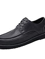 Недорогие -Муж. Комфортная обувь Полиуретан Осень Туфли на шнуровке Черный / Коричневый / Серый