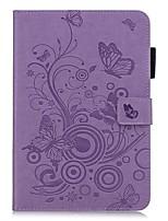 Недорогие -Кейс для Назначение Apple iPad Mini 3/2/1 / iPad Mini 4 / iPad Mini 5 Кошелек / Бумажник для карт / со стендом Чехол Однотонный / Бабочка Кожа PU