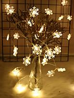 Недорогие -3 м гирлянды 20 светодиодов el теплый белый / RGB / свадьба / рождество свадебные украшения праздничные атрибуты снежинка веревка свет гирлянды украшения рождественская елка украшения для дома зима
