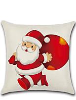 Недорогие -1 шт. С рождеством христовым декоративные полиэстер наволочки рождество наволочка чехол дед мороз лося наволочка