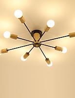 Недорогие -8-головное дерево в скандинавском стиле с металлическим потолочным светильником, полупрозрачная современная гостиная столовая спальня потолочные светильники