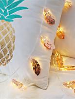 Недорогие -1,5 м Гибкие светодиодные ленты / Гирлянды 10 светодиоды Тёплый белый Творчество / Для вечеринок / Декоративная Аккумуляторы AA 1шт / IP65