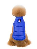 Недорогие -Собаки Плащи Одежда для собак Однотонный Лиловый Красный Синий Полиэстер Костюм Назначение далматина Шиба-Ину Мопс Зима Женский Болеро Наколенники