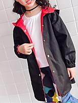 Недорогие -Дети Девочки Классический С принтом Куртка / пальто Черный