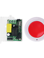 Недорогие -РЧ беспроводной пульт дистанционного управления выключатель света 10a релейный выход радио 220 В 1-канальный приемный модуль 1 кнопка дистанционного / рабочий режим 433 МГц