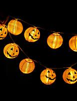 Недорогие -Хэллоуин тыква струнные огни 1.2 м 10 светодиодные украшения хэллоуин 3d jack-o-lantern струнные огни для Хэллоуина фестиваль дворе украшения патио