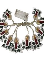 Недорогие -1,5 м гирлянды 10 светодиодов dip светодиод теплый белый декоративные / рождественские украшения свадьбы а. А. С питанием от батареи 1 шт.