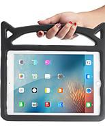 Недорогие -Кейс для Назначение Apple iPad Air / iPad 4/3/2 / iPad (2018) Защита от удара / со стендом Кейс на заднюю панель Однотонный Этиленвинилацетат