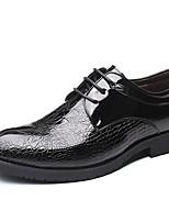 Недорогие -Муж. Официальная обувь Под крокодила Осень Деловые Туфли на шнуровке Черный / Для вечеринки / ужина