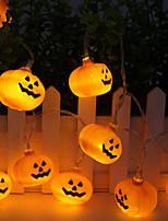 Недорогие -3-х струнный светильник 20 светодиодов теплый белый / тыква для Хэллоуина / праздничные / декоративные / с питанием от источника 1 комплект