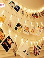Недорогие -1 шт. Фото коллаж клип строки огни 3 м 20 светодиодов декоративные свадьба спальня настенный дисплей фея фото огни для подвешивания картин карты