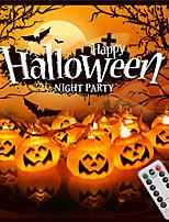 Недорогие -хэллоуин струнные светильники 3м 20led 3d jack-o-lantern тыква usb с питанием от 13 клавиш дистанционного управления на открытом воздухе украшения хэллоуин огни теплый белый
