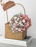 Недорогие -Искусственные Цветы 1 Филиал Классический европейский Пастораль Стиль Гортензии Букеты на стол
