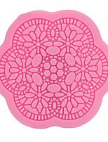 Недорогие -Классический довольно DIY кружева цветочные узоры круглый фондант силиконовые формы инструменты для украшения торта