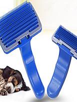 Недорогие -Собаки Коты Маленькие зверьки Уход Чистка пластик Расчески Компактность Массаж Прочный Синий 1