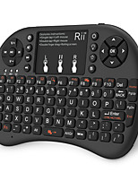 Недорогие -Rii K08+ Беспроводная 2.4GHz Клавиатура Air Mouse Minii Mini с сенсорной панелью Белый с подсветкой 72 pcs Ключи