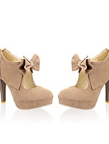 Недорогие -Жен. Обувь на каблуках На шпильке Круглый носок Полиуретан Лето Черный / Миндальный
