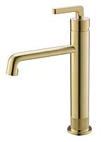 Недорогие -Ванная раковина кран - Вращающийся Матовое золото Другое Одной ручкой одно отверстиеBath Taps