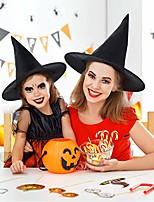 Недорогие -Черная ведьма шляпы маскарад волшебник шляпа колпаки косплей хэллоуин ну вечеринку необычные платья декор цилиндр