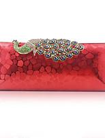 Недорогие -Жен. / Девочки Кристаллы Сплав Вечерняя сумочка Животное Красный