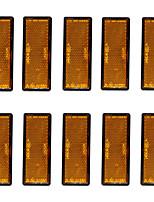 Недорогие -10 шт. / Компл. Самоклеящиеся янтарный / оранжевый прямоугольный отражатель прицепа модели d4389y-10-z
