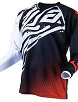 Недорогие -Муж. Длинный рукав Велокофты Сноуборд Джерси Черный / красный геометрический Велоспорт Джерси Одежда для мотоциклов Верхняя часть Сохраняет тепло С защитой от ветра Дышащий Виды спорта Зима 100