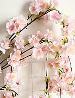 Недорогие -Искусственные Цветы 1 Филиал Классический Деревня Для вечеринки Сакура Вечные цветы Цветы на стену
