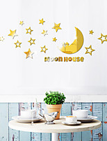 cheap -Star Moon Shapes Wall Stickers Mirror Wall Stickers Decorative Wall Stickers, Acrylic Home Decoration Wall Decal Wall Decoration 1pc