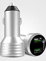 Недорогие -интеллектуальное быстрое зарядное устройство на автомобиле 2 порта USB для контроля напряжения 24 В