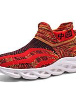 Недорогие -Мальчики / Девочки Удобная обувь Flyknit Спортивная обувь Маленькие дети (4-7 лет) / Большие дети (7 лет +) Для прогулок Желтый / Красный Лето / Осень / Резина