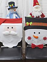 Недорогие -санта клаус снеговик украшение на стул