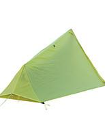Недорогие -1 человек Световой тент Укрытия и аксессуары для палаток На открытом воздухе Легкость С защитой от ветра Дожденепроницаемый Двухслойные зонты Карниза Палатка 2000-3000 mm для