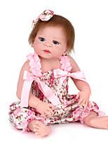 Недорогие -NPK DOLL Куклы реборн Куклы Мальчики 22 дюймовый Силикон - Безопасность Подарок Очаровательный Детские Универсальные / Девочки Игрушки Подарок
