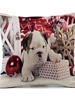 Недорогие -1 штук Полиэстер Наволочка, Ар деко Рождество Мультяшная тематика Для отдыха Бросить подушку