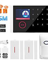 Недорогие -Multi-Network Language Wireless GSM охранная сигнализация Wi-Fi домашняя сигнализация хозяин беспроводной дверной звонок сигнализация другие / системы домашней сигнализации / сигнализация хозяин GSM +
